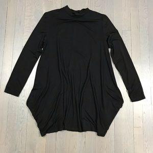 Confetti Mock Neck Long Sleeve Tunic Dress Top